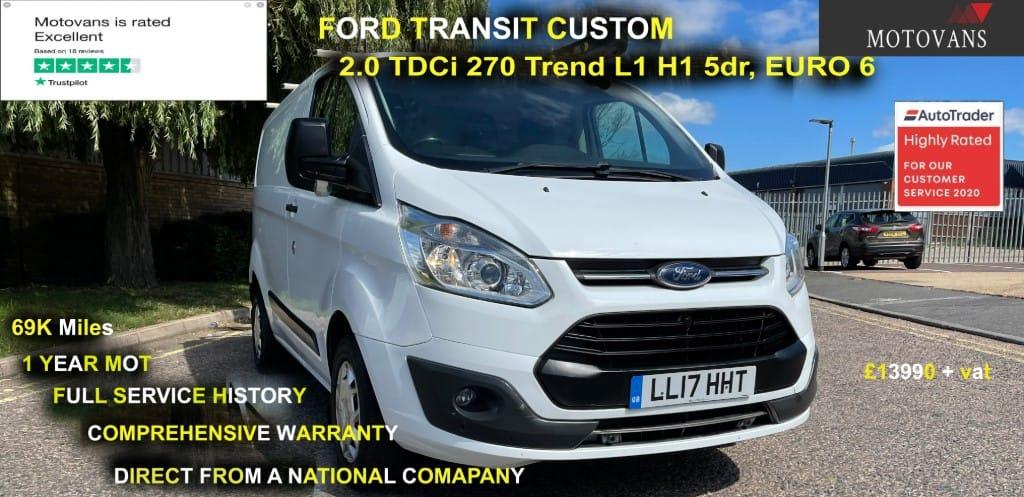 used Ford Transit Custom 270 TREND LR P/V in middlesex