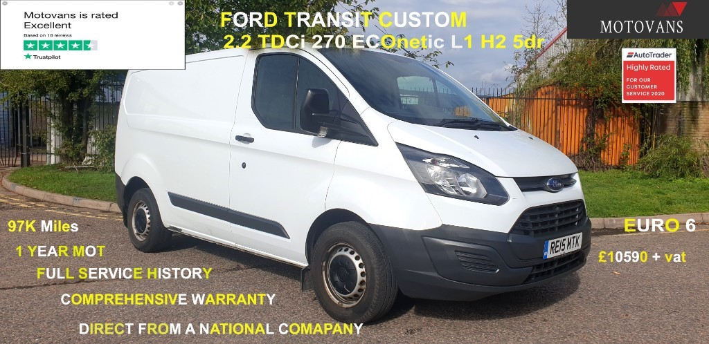 used Ford Transit Custom 270 LR P/V in middlesex