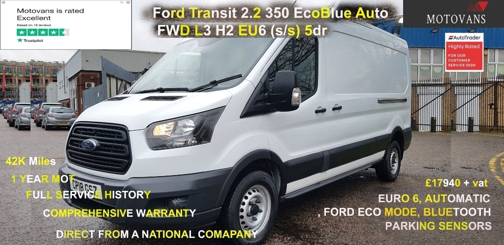 used Ford Transit 350 L3 H2 P/V in middlesex