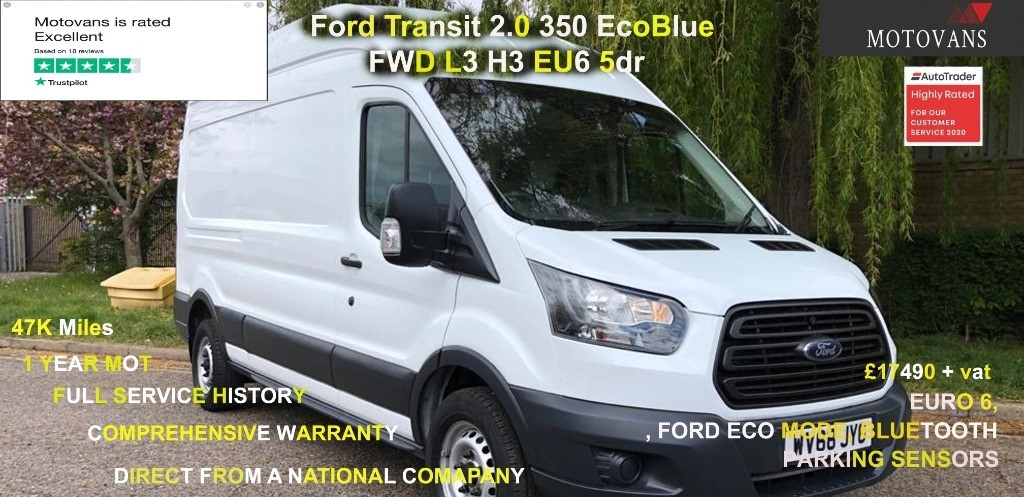 used Ford Transit 350 L3 H3 P/V in middlesex