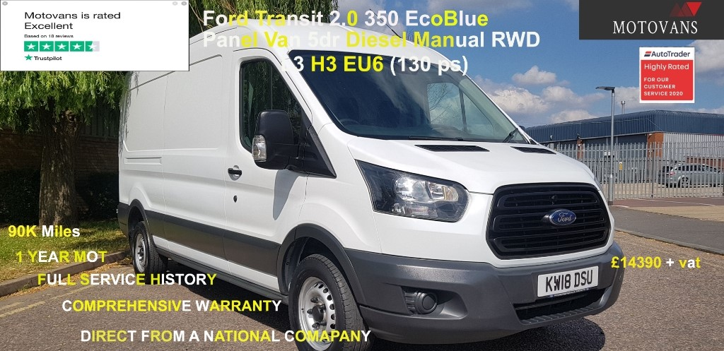 used Ford Transit 350 L3 H2 P/V DRW in middlesex