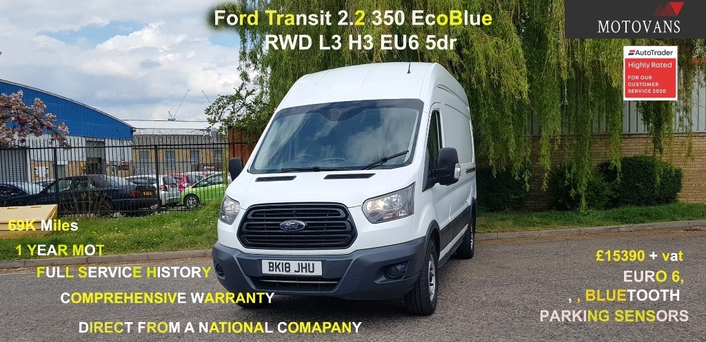 used Ford Transit 350 L3 H3 P/V DRW in middlesex