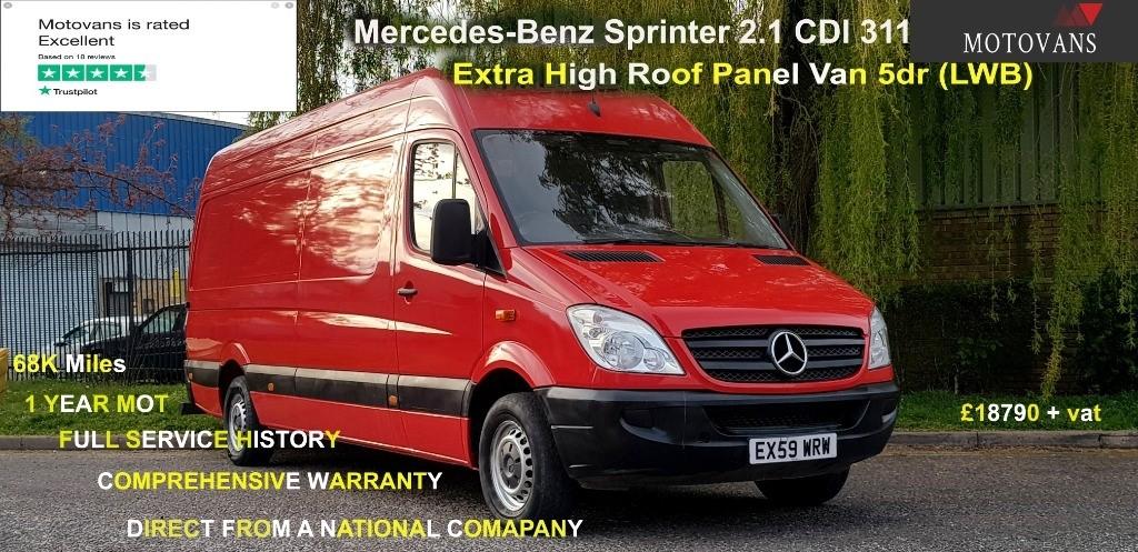 used Mercedes Sprinter 311 CDI LWB P/V in middlesex