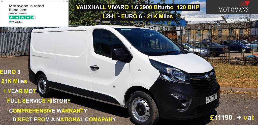 used Vauxhall Vivaro L2H1 2900 CDTI in middlesex