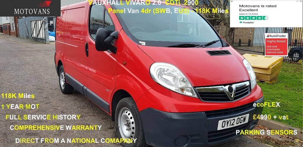 used Vauxhall Vivaro 2900 CDTI P/V in middlesex