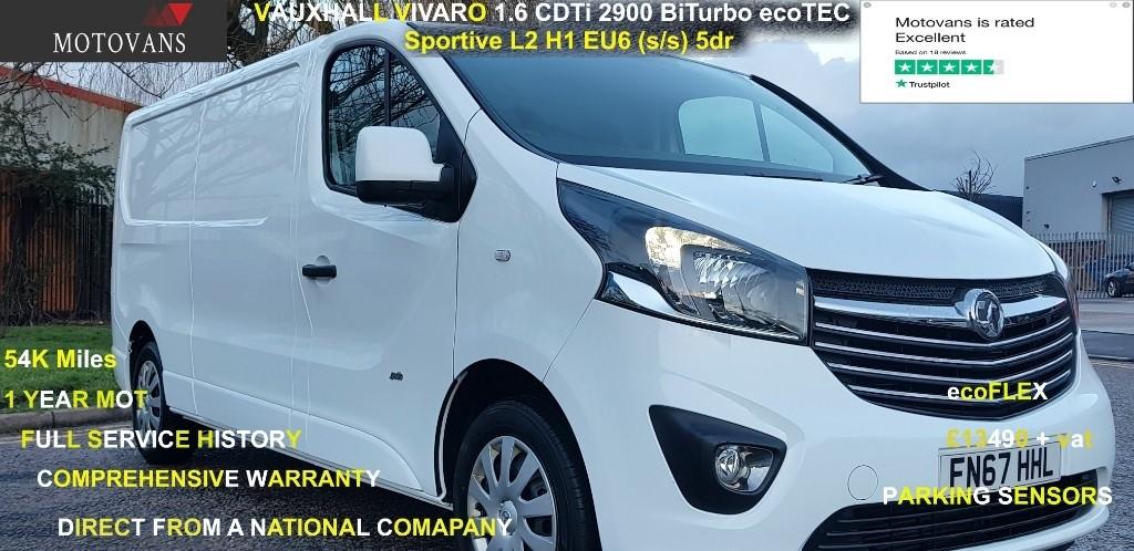 used Vauxhall Vivaro L2H1 2900 SPORTIVE CDTI BITURBO S/S in middlesex
