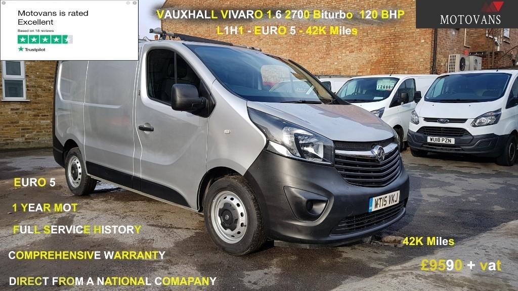 used Vauxhall Vivaro 2700 L1H1 CDTI P/V ECOFLEX in middlesex