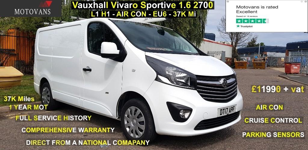 used Vauxhall Vivaro L1H1 2700 SPORTIVE CDTI in middlesex