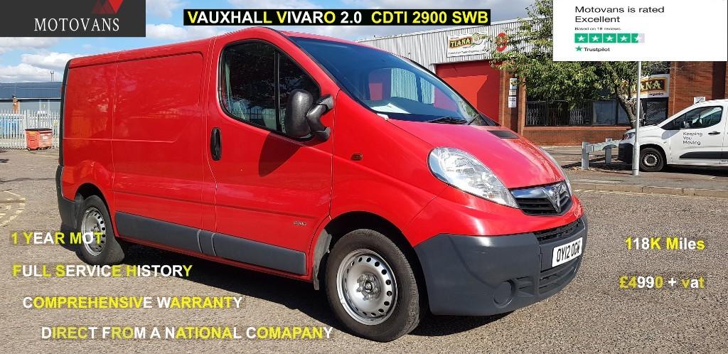 used Vauxhall Vivaro 2900 CDTI P/V ECOFLEX in middlesex