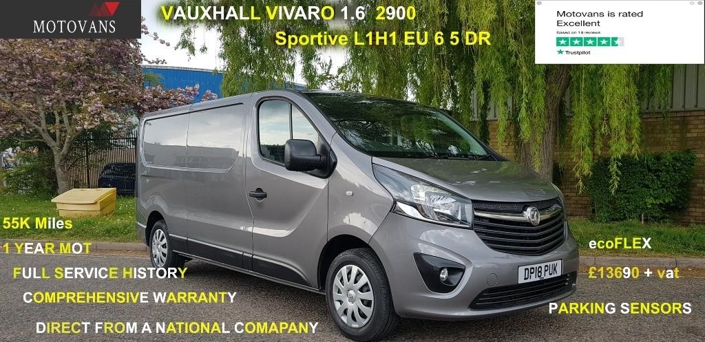 used Vauxhall Vivaro L2H1 2900 SPORTIVE CDTI in middlesex