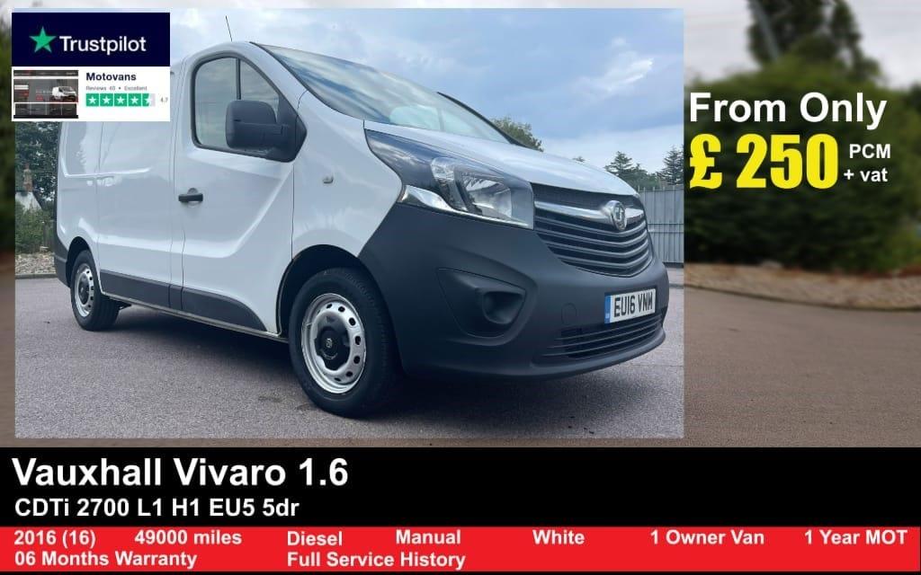 used Vauxhall Vivaro 2700 L1H1 CDTI P/V in middlesex