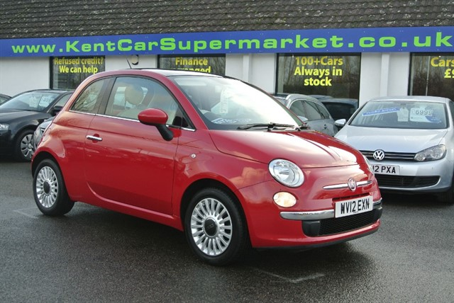 used Fiat 500 LOUNGE in kent