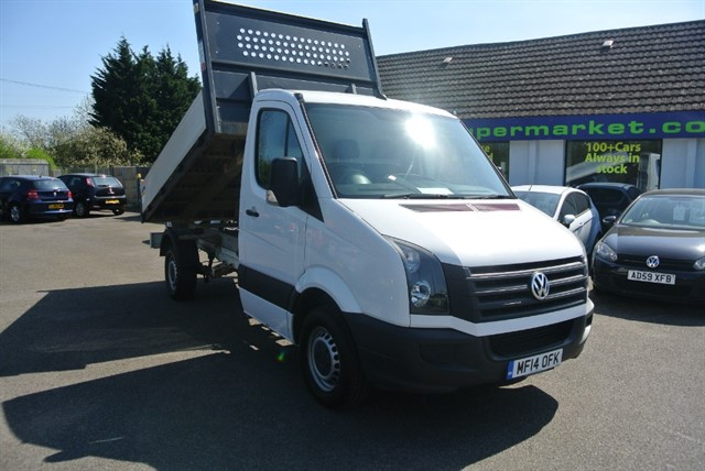 used VW Crafter CR35 TDI C/C TIPPER STARTLINE in kent