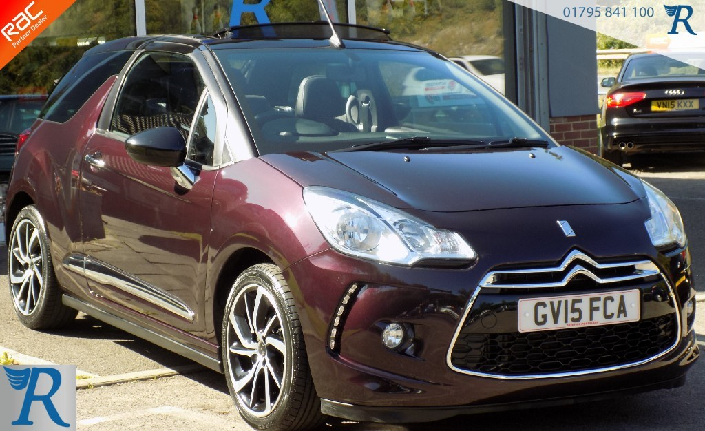 used DS 3 Cabrio PURETECH DSTYLE NAV S/S EAT6 in sittingbourne-kent