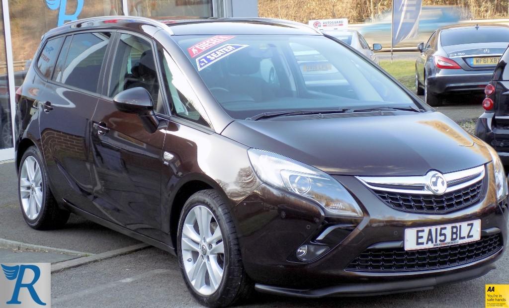 used Vauxhall Zafira Tourer SRI CDTI in sittingbourne-kent