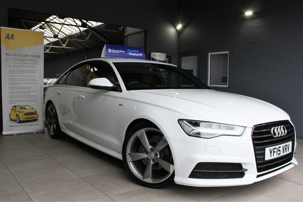 used Audi A6 TDI ULTRA S LINE BLACK EDITION in staffordshire
