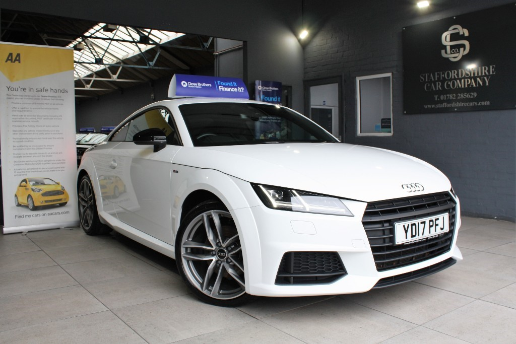used Audi TT TFSI S LINE BLACK EDITION in staffordshire