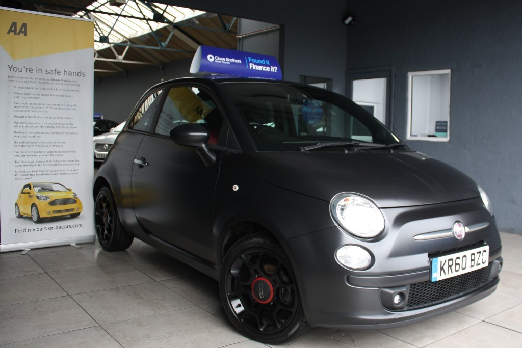 used Fiat 500 MATT BLACK in staffordshire