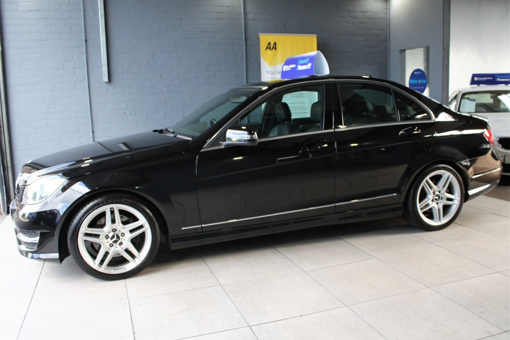 Used Black Mercedes C350 for Sale   Staffordshire