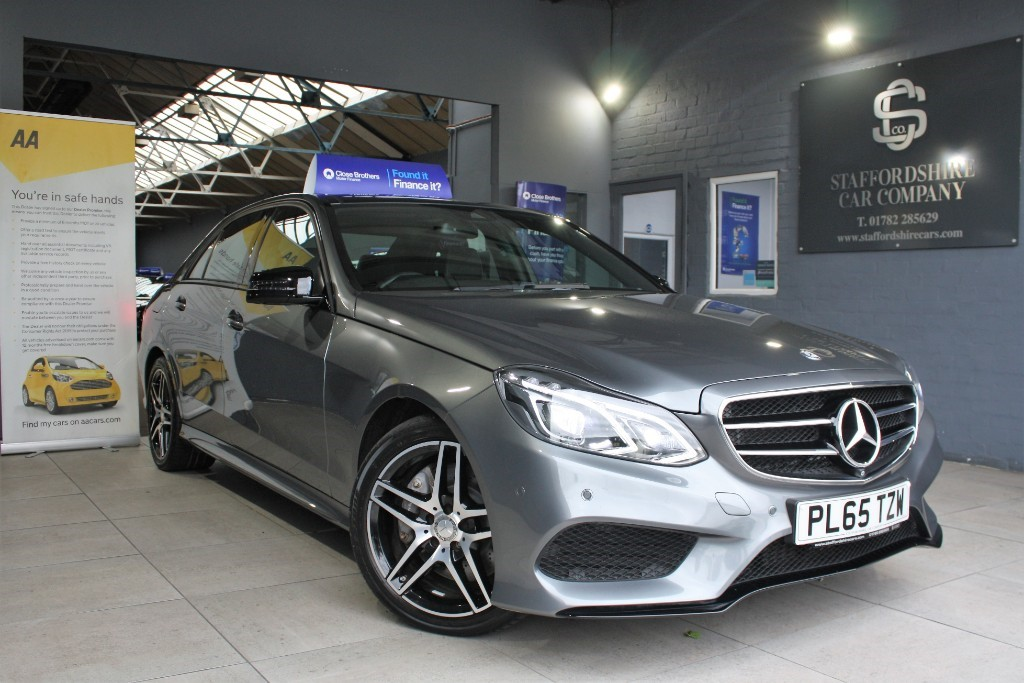 used Mercedes E350 BLUETEC AMG NIGHT EDITION PREMIUM in staffordshire