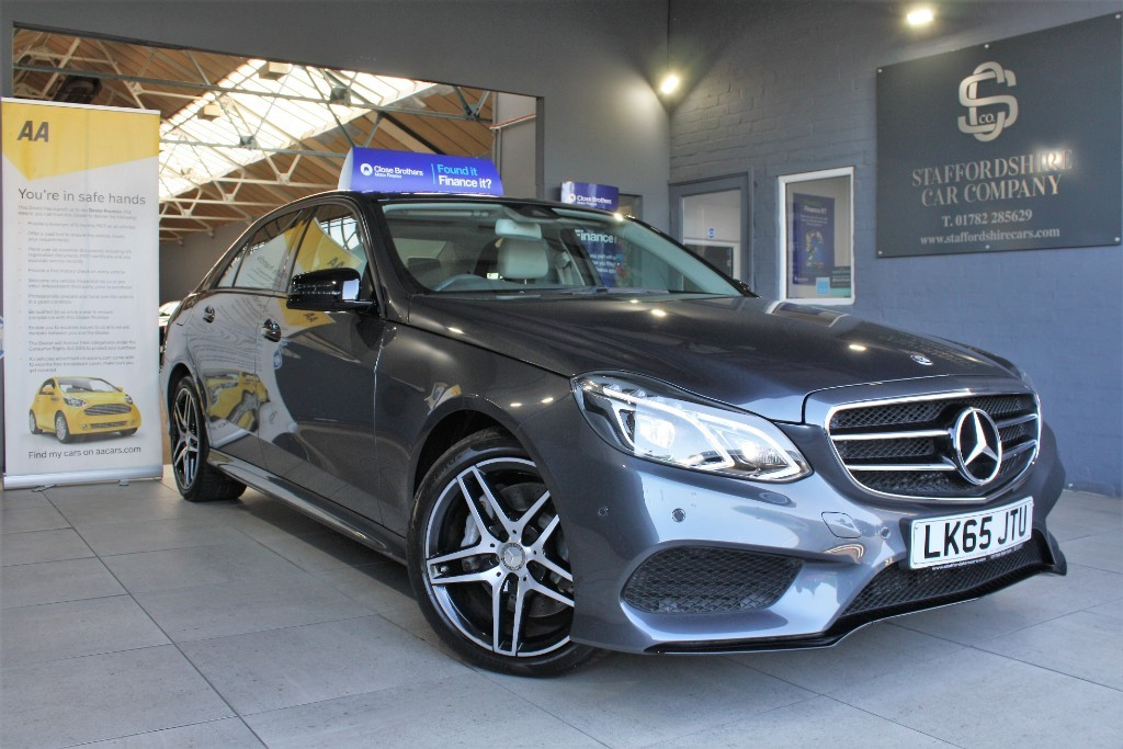 used Mercedes E350 BLUETEC AMG NIGHT ED PREMIUM PLUS in staffordshire