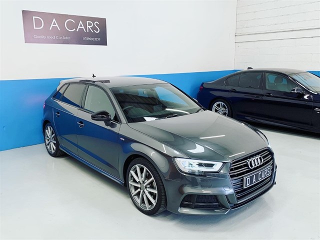 used Audi A3 SPORTBACK TFSI S LINE BLACK EDITION in andover-hampshire