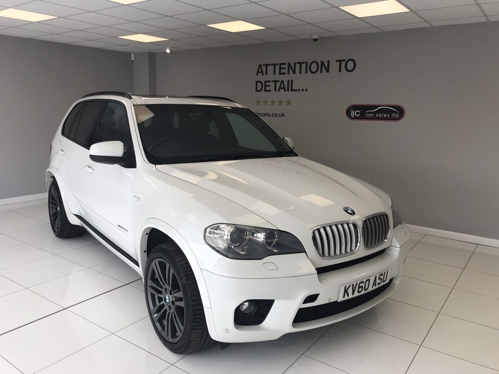 used BMW X5 XDRIVE40D M SPORT AWESOME IN WHITE! in louth-lincolnshire