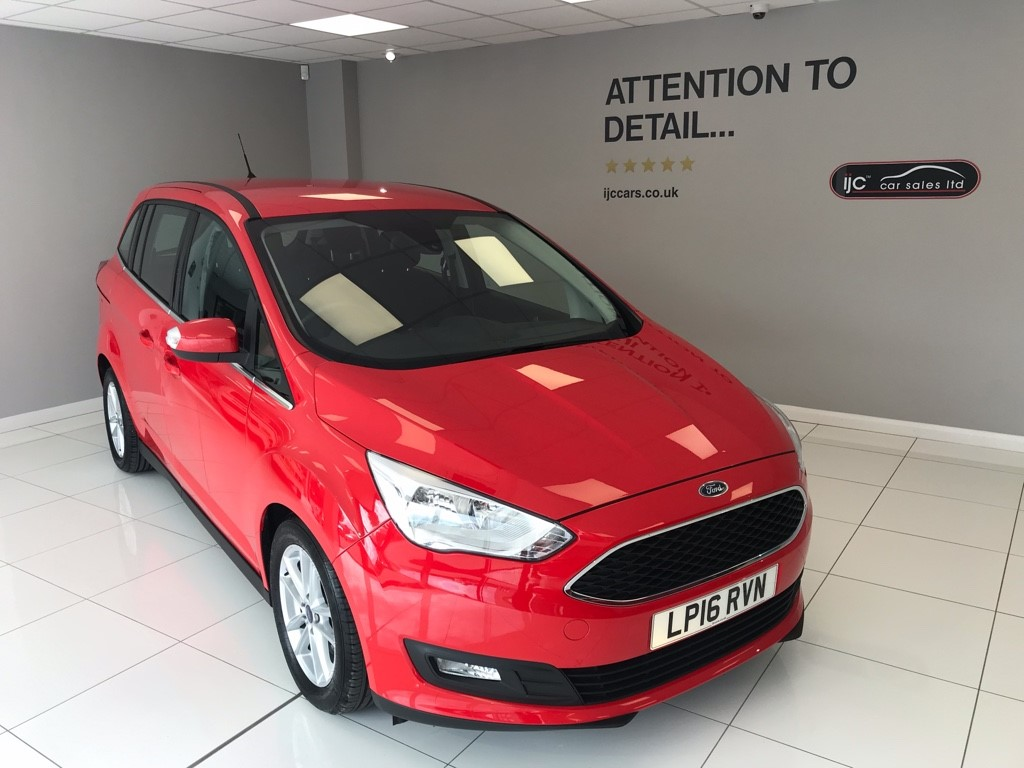 used Ford Grand C-Max GRAND ZETEC 1.5TDCI AUTOMATIC, JUST 1654 MILES!! in louth-lincolnshire