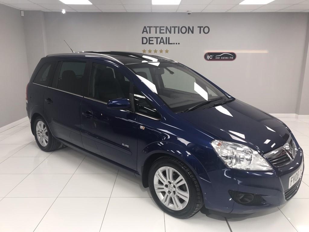 used Vauxhall Zafira ELITE NAV 1.8 PETROL MANUAL in louth-lincolnshire