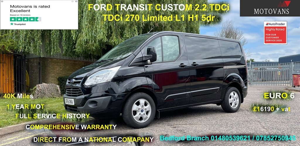 used Ford Transit Custom 270 LIMITED LR P/V in middlesex