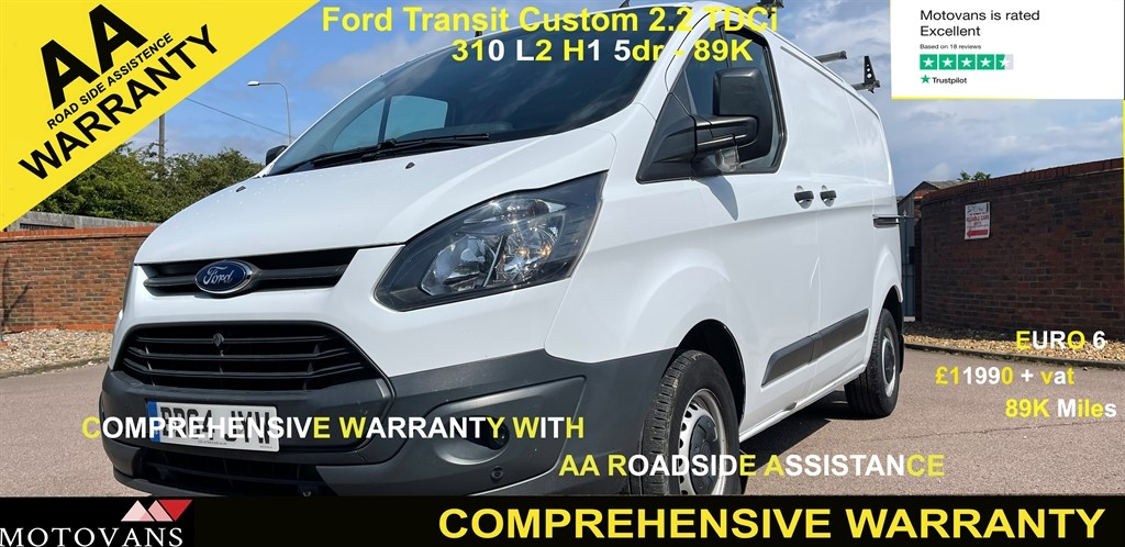 used Ford Transit Custom 310 LR P/V in middlesex