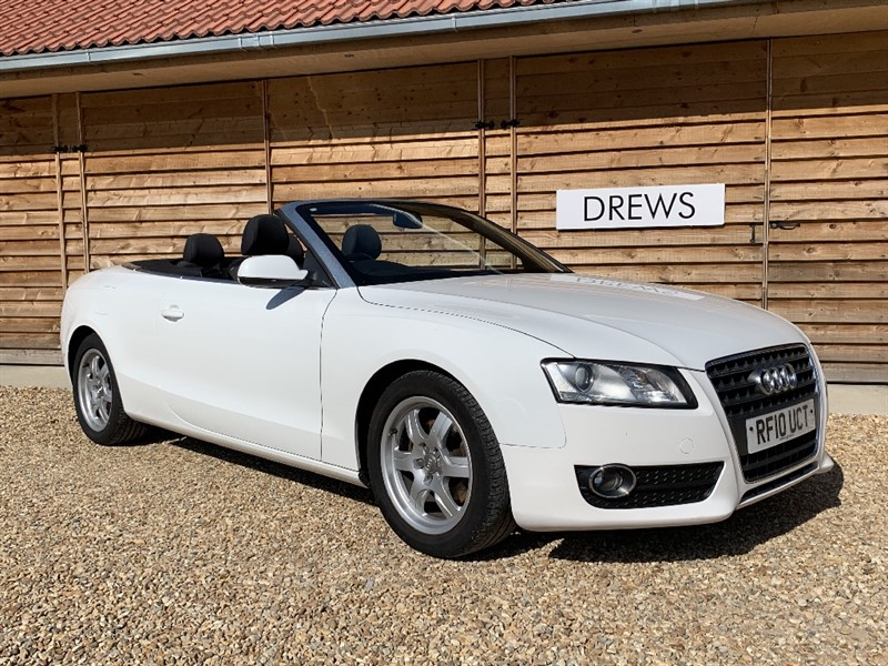 Used Audi A5 1.8 TFSI Petrol White with Red Electric Hood Just Serviced in Berkshire