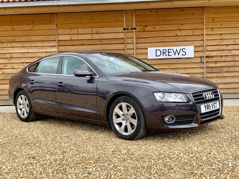 Used Audi A5 SPORTBACK TDI SE Black leather New Mot Great Condition in Berkshire