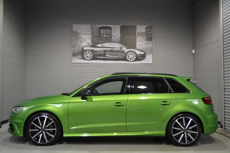 used Audi S3 Sportback TFSI quattro 300PS. Audi Exclusive Java Green, Panoramic sunroof in buckinghamshire