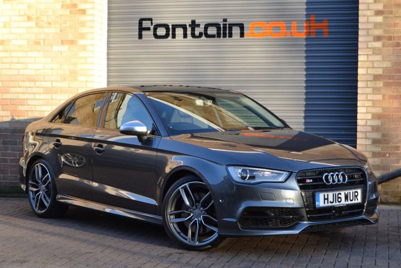 used Audi S3 Saloon TFSI quattro 300PS. Pan roof, Camera, B&O, Loaded! in buckinghamshire